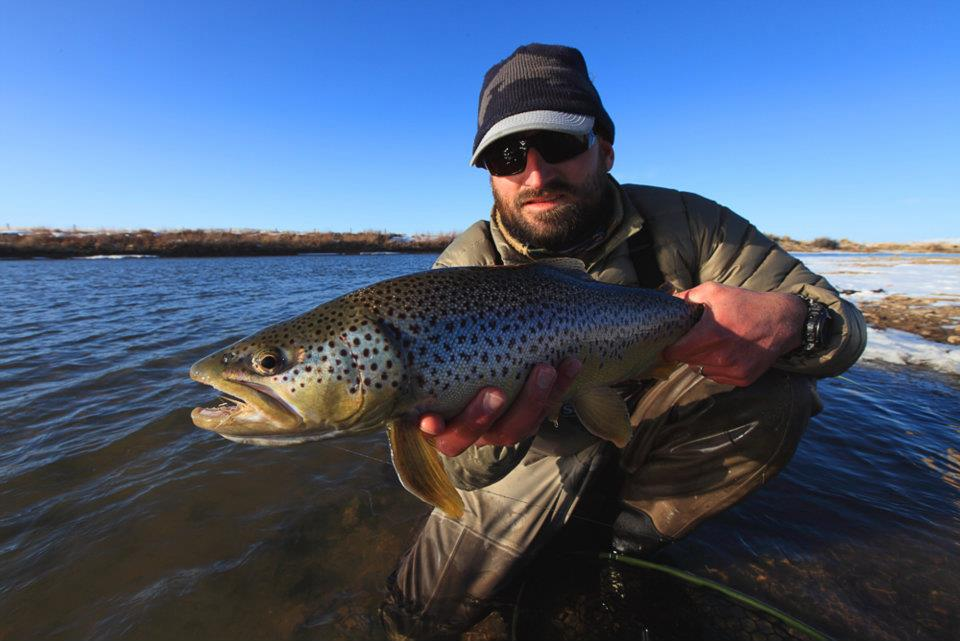 Snow again and wyoming fly fishing north platte lodge for Casper wyoming fly fishing
